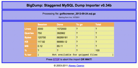 How to move very large MySQL Databases   The WP Guru