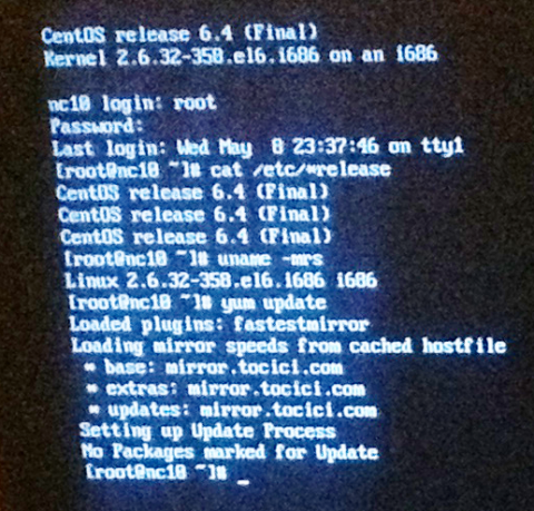 It works: CentOS 6.4 on Samsung NC10
