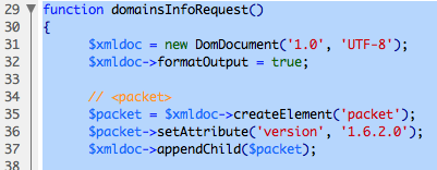 Selected but uncollapsed code