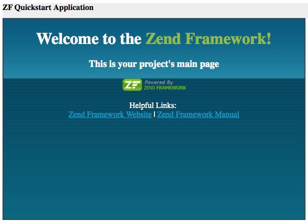 Run Zend Application
