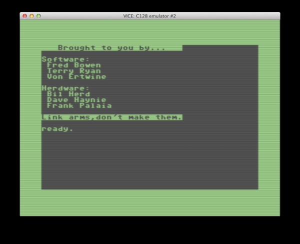 C128-credits