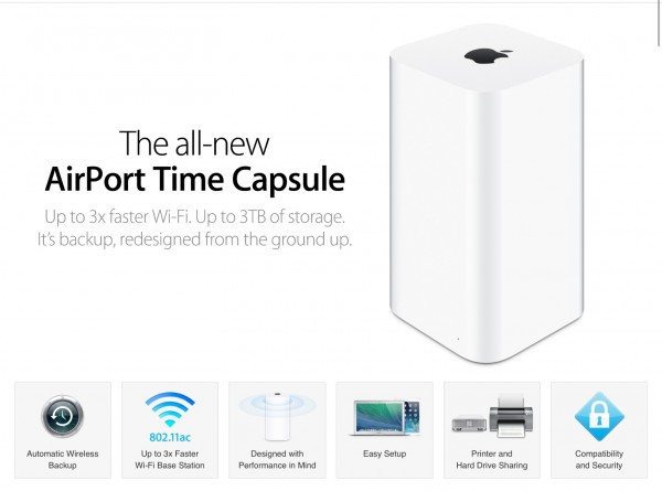 Apple time capsule hook up