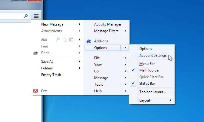 mozilla thunderbird how to change port setting