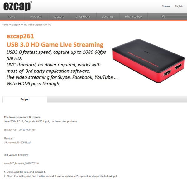 ezcap 261 / AGPtEK / MYPIN USB3 – Game Capture Review | The WP Guru